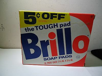 1970's Vintage Brillo Soap Pads In The Box 10 Count The Tough Pad Purex