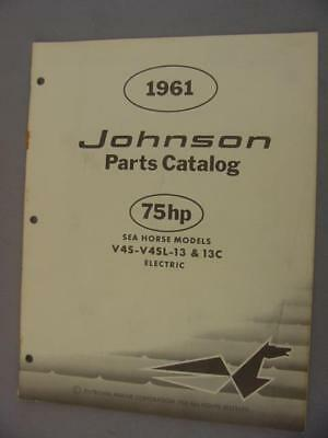 1961 Johnson V4S-13 V4SL-13 V4S-13C V4SL-13C Electric Parts Manual – 75 HP