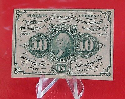 Fractional Note: 10 Cents - 1st Issue  - Washington10c - 2 of 4