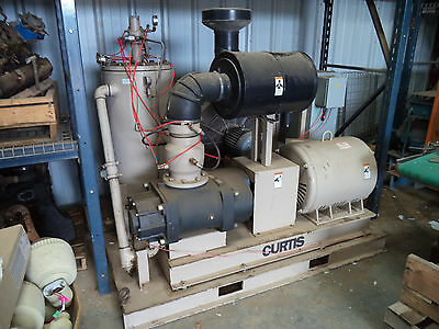 Curtis Industrial 150hp Rotary Screw Air Compressor with REBUILT AIR END & MOTOR