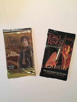 The Lord of the Rings Movie Card and Trading Card pack. Brand new and Unopened
