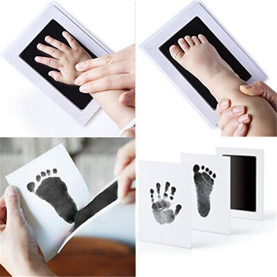 Oaker Extra Large Baby Inkless Safe Clean-Touch Handprint and Footprint Ink Pads