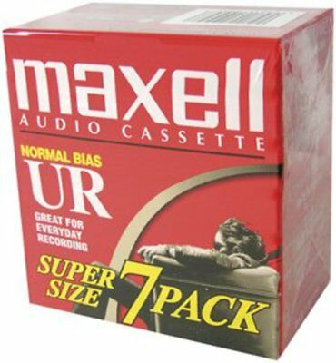 Maxell Ur-90 7PK Brick Normal Bias Audio Cassettes - 025215109577