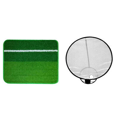 Collapsible Chipping Practice Net with Hitting Mat Indoor Outdoor Training