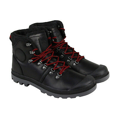 Palladium Pallabrouse Hikr Mens Black Leather Lace Up Boots Shoes
