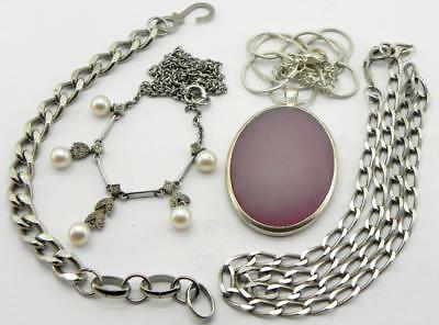 Collection of Vintage Slver Jewellery.