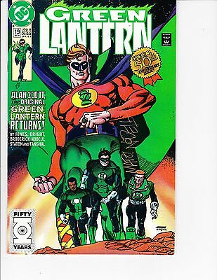 Green Lantern  #19 ( Martin Nodell Signed/cover & card  VF/NM  9.0) Dec-1991, DC