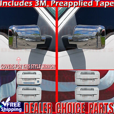 2004-2008 F150 Chrome Door Handles TOP Mirror Tailgate Covers W//OPSK W//OKP 2Dr