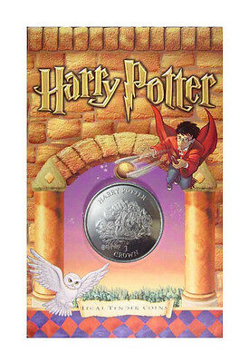 """2001 Harry Potter Isle of Man """"Birth of Norbert""""  Crown Coin BU OGP"""