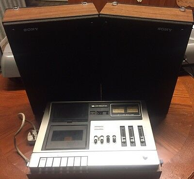 Sony TC144CS Stereo Tape Deck & Speakers (1970's)