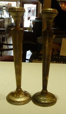 Vintage Pair of Otto Reichardt Hallmarked Sterling Silver Candlesticks #764.