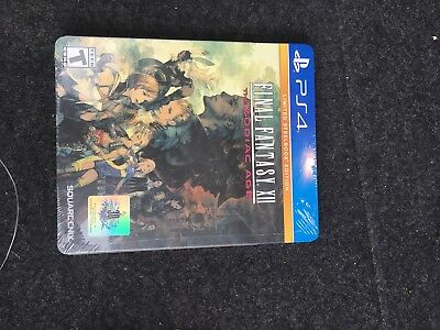 Final Fantasy XII The Zodiac Age Limited Steelbook Edition Playstation 4 PS4 New
