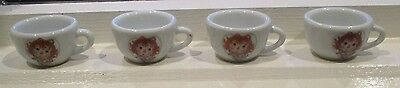 Raggedy Ann Doll Miniature Collectible Mini Tea Cup Schyling Set of 4 Cups