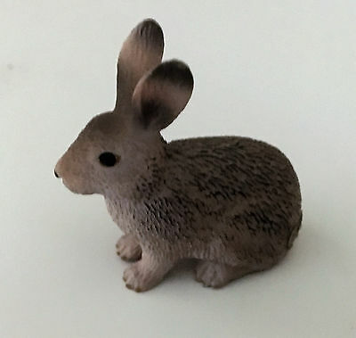 Schleich Gray Wild Bunny Rabbit New