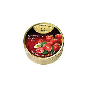 NEW Cavendish & Harvey Strawberry Filled Tin 175g