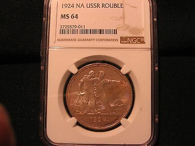 Russia  Rouble 1924  NGC MS 64