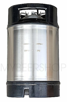 9.5L Premium 2.5 Gallon Ball Lock Corny Keg Home Brew Beer Litre Stainless Steel