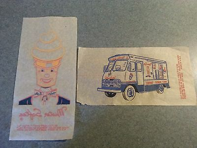 Lot Of 2 Vintage Mister Softee Iron Ons Truck And Mister Softee Circa 1960's