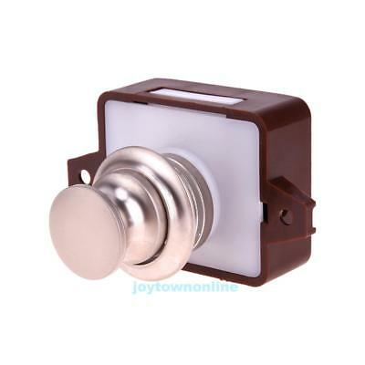 Large Push Lock Button Catch Drawer Cupboard Furniture Door Knob for Yacht RV