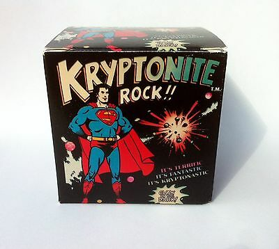 Superman Kryptonite Rock 1977 DC Comics Glow in the Dark KRYPTONASTIC GIFT