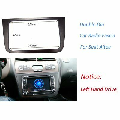 2 DIN Radio DVD Stereo fascia CD Panel Dash Mounting for SEAT ALTEA LHD 2005-11