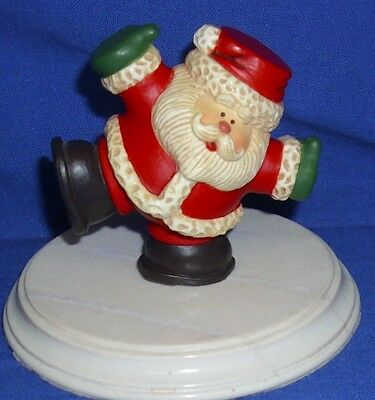 Hallmark Christmas Merry Miniatures Tumbling Santa 1982 Rubber Used with Seal