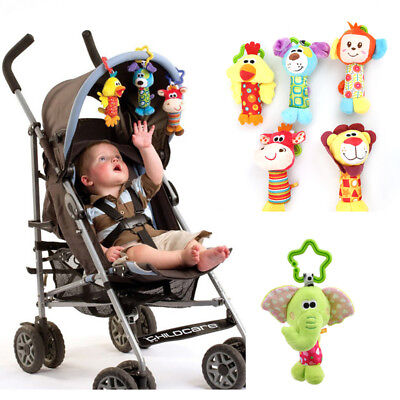 Kids Baby Bed Pram Handbell Stroller Hanging Handbell Pendant Stuffed Rattle Toy