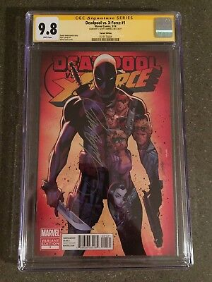 Deadpool vs X-Force #1 Marvel 1:25 Variant Signed J Scott Campbell CGC SS 9.8
