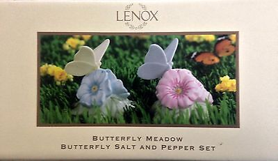 "Lenox ""Butterfly Meadow"" Butterfly Salt & Pepper -  Original Packaging"