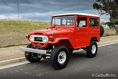 1977 Toyota Land Cruiser 4X4 1977 Red 4X4! 6 cyl 3 speed Excellent paint Nice driver