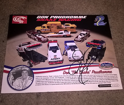 Don Prudhomme Nhra Authentic Signed 8X12 Promo Picture