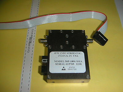 JFW Ind 50P-1891 Solid State Programmable Attenuator 30-3000 MHz .5dB steps