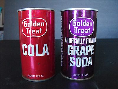 Golden Treat Grape Soda Cola Straight Steel Pop Cans Fairway Foods St Paul MN
