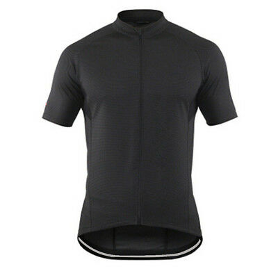Black Men's Cycling Jersey Shirts Coolmax Road Bike Cycle Jersey Tops S-5XL