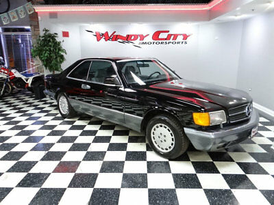 1989 Mercedes-Benz 500-Series 560 Series 2dr Coupe 560SEC Automatic 1989 Mercedes Benz 560SEC Coupe Only 2 Owners Black Over Gray Heated Leather!