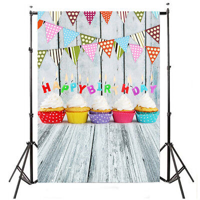 Kids Birthday Cake Baby Photography Backdrop Background For Studio Prop