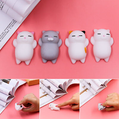 Cute Soft Silicone Squishy Toy Squeeze Pinch Toy Press Slow Phone Key Bag Strap