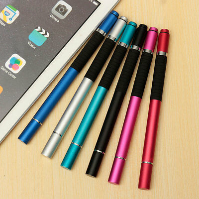 2in1 8 Colors Precision Thin Capacitive Touch Screen Stylus Pen For iPhone iPad