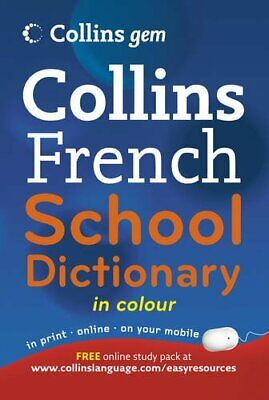 Collins Gem French School Dictionary (Collins..., Collins Dictionaries Paperback