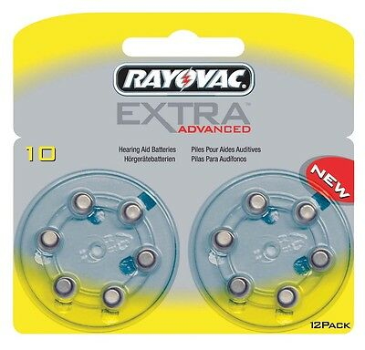Rayovac Extra Advanced Hearing Aid Batteries Size 10 (Yellow Tab) x 120 Cells