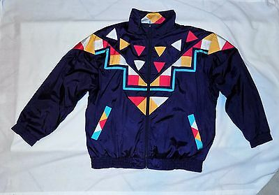 Vintage 80s  WESTBOUND  Windbreaker TRACK SUIT Coat Jacket Petite Large %