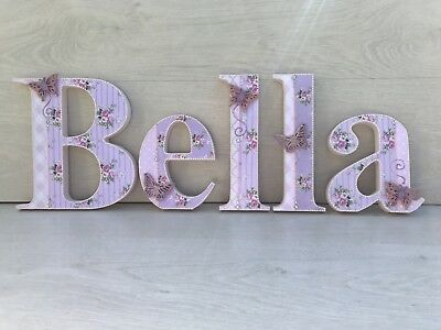 Wooden 20cm Letters~Shabby Chic~baby  Girl~Pink~Nursery Decor~baby Shower~gift
