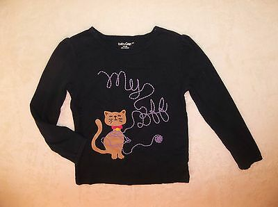 Girls Baby Gap Blue Kitty Cat BFF Shirt   Sz 5 5T
