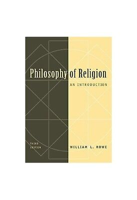 Philosophy of Religion: An Introduction, Rowe, William L. Paperback Book The