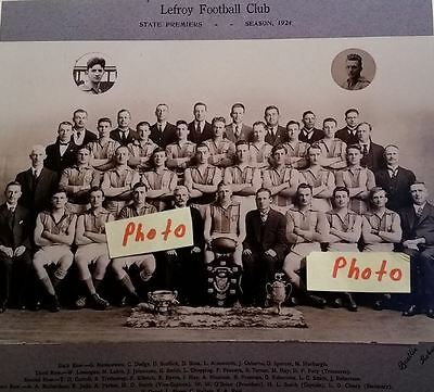 1924 Lefroy Tasmanian Football Club State Premiers Photo - TFL