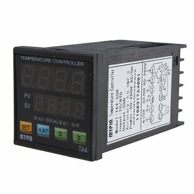Dual Digital F/C PID Temperature Control Controller TA4-SSR With 2 Alarms