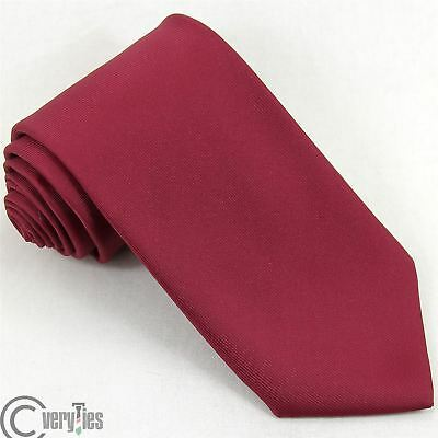 Cravatta FORINT Bordeaux Tinta Unita Poliestere Made in Italy Tie