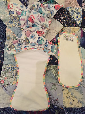 Minky Fabric Reusable Nappy Nappies Cover, Snap In, Booster Baby Bare Smoke Free