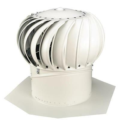 Whirlybird 12 in. White Aluminum Internally Braced Wind Turbine BIB-12W