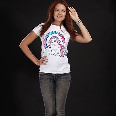 Official Ladies My Little Pony Pony Love White Fitted T-Shirt | Sizes S-XXL